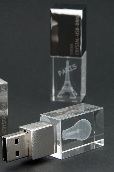 USB Flash Drive in cristallo